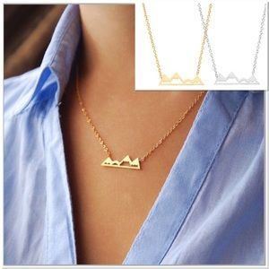 4 for 25 stainless steel mountain necklace